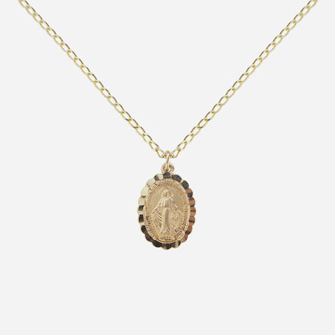 Honor Miraculous Medal Pendant Necklace - Gold