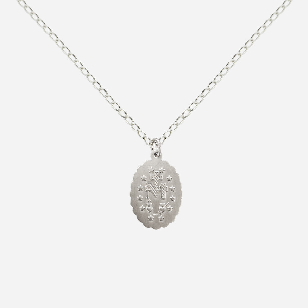 Honor Miraculous Medal Pendant Necklace - Sterling Silver