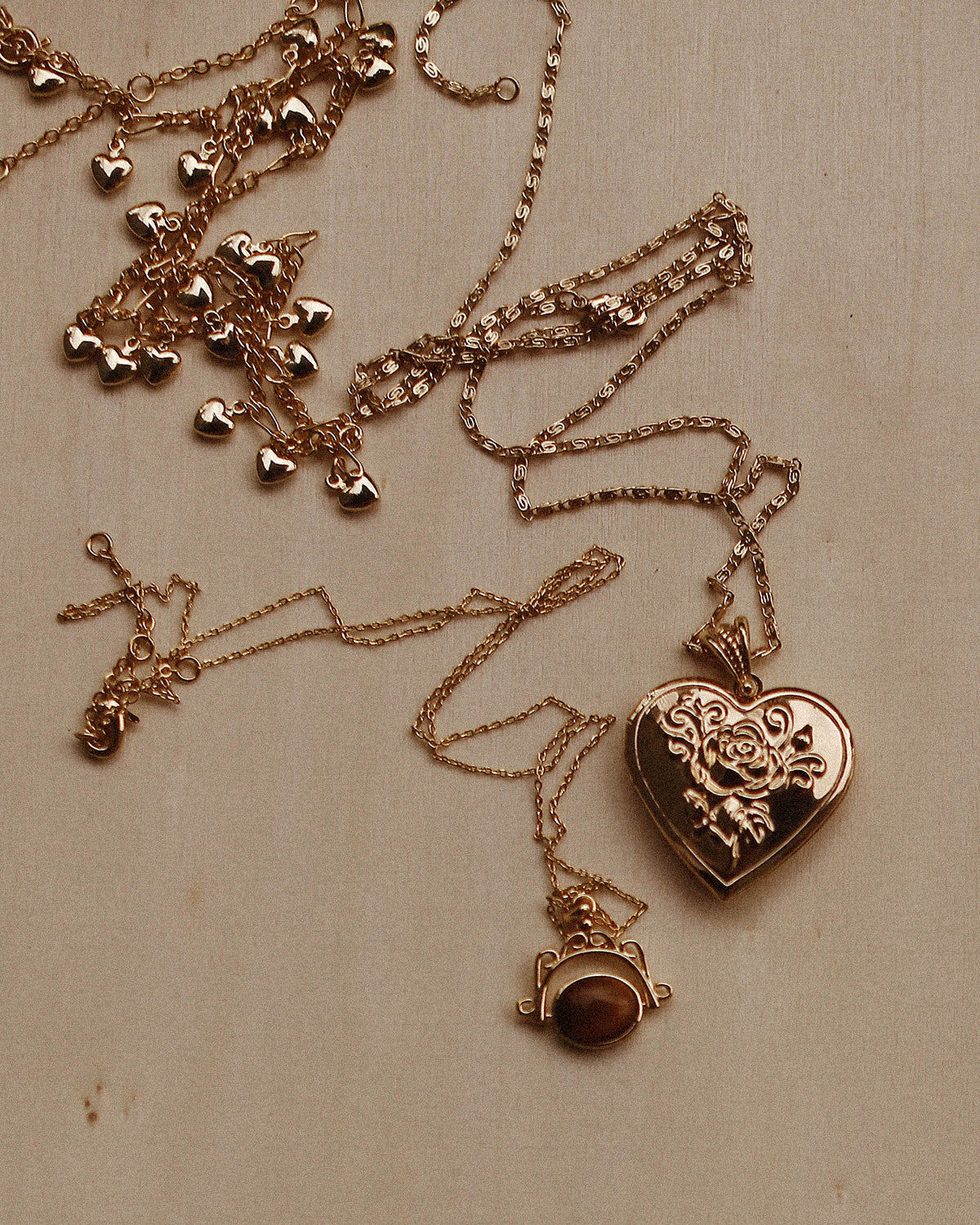 Miriam Heart Drop Necklace