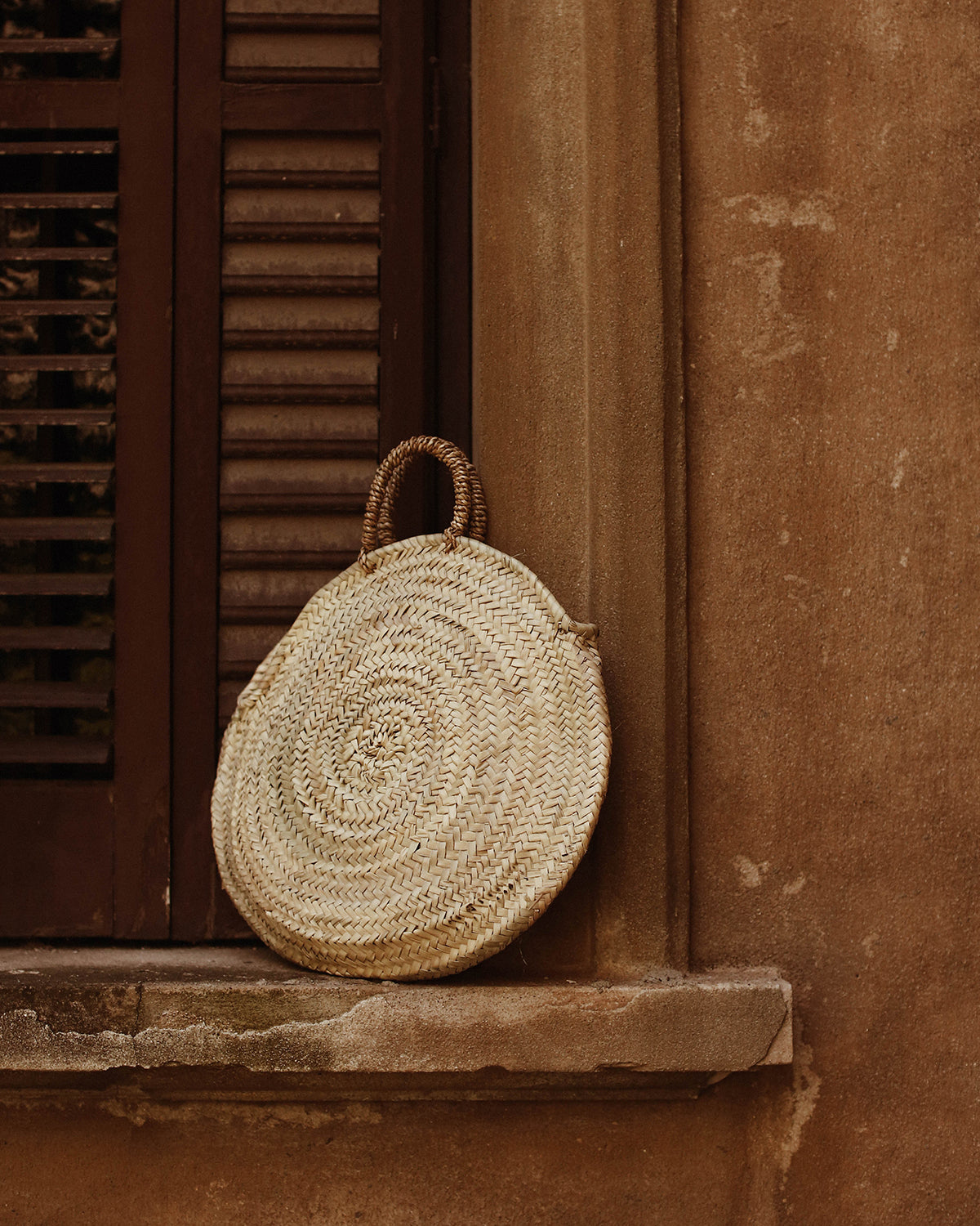 Image of Vienna Round Woven Shopper Bag