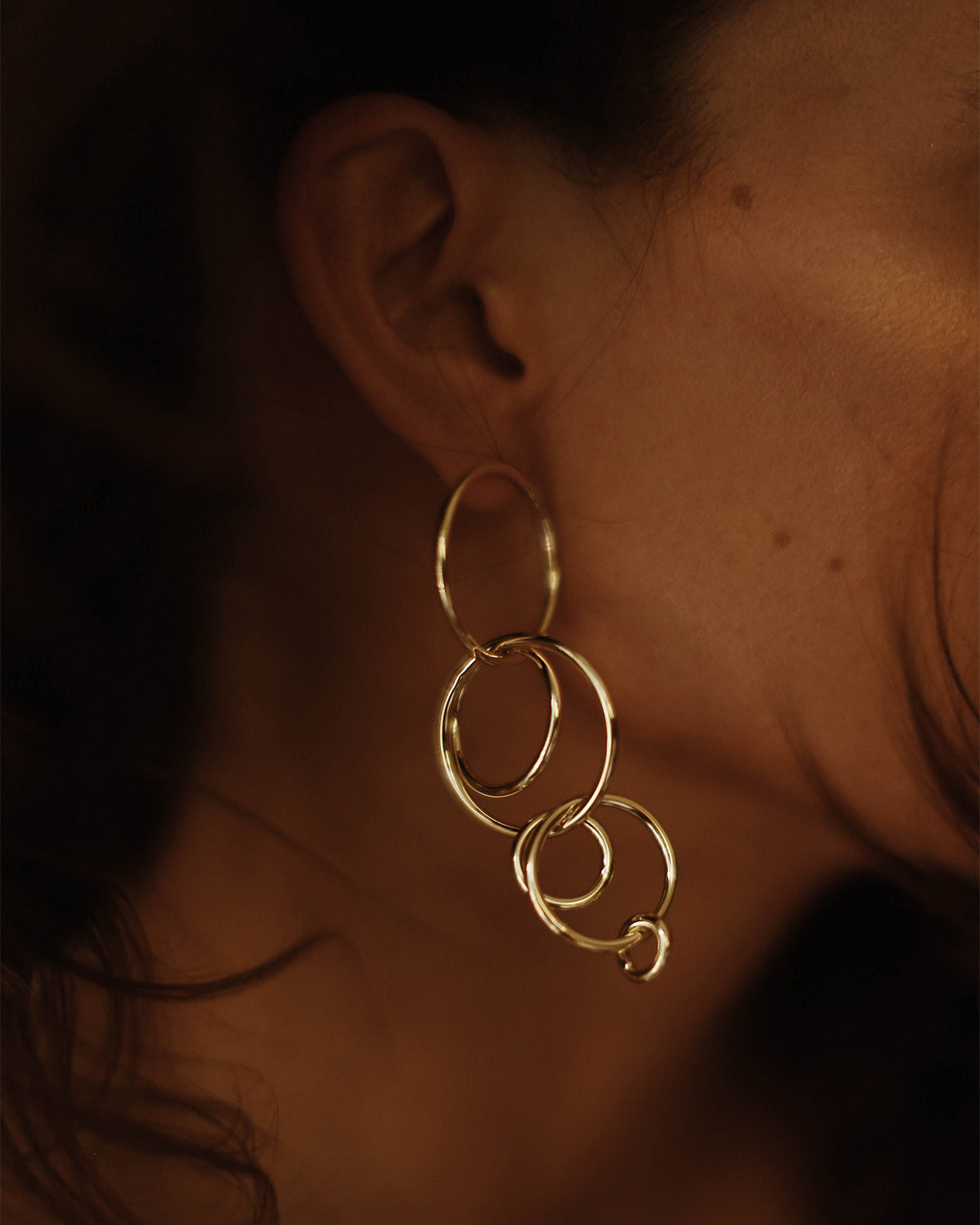 Image of Carmen Multi Hoop Drop Earrings