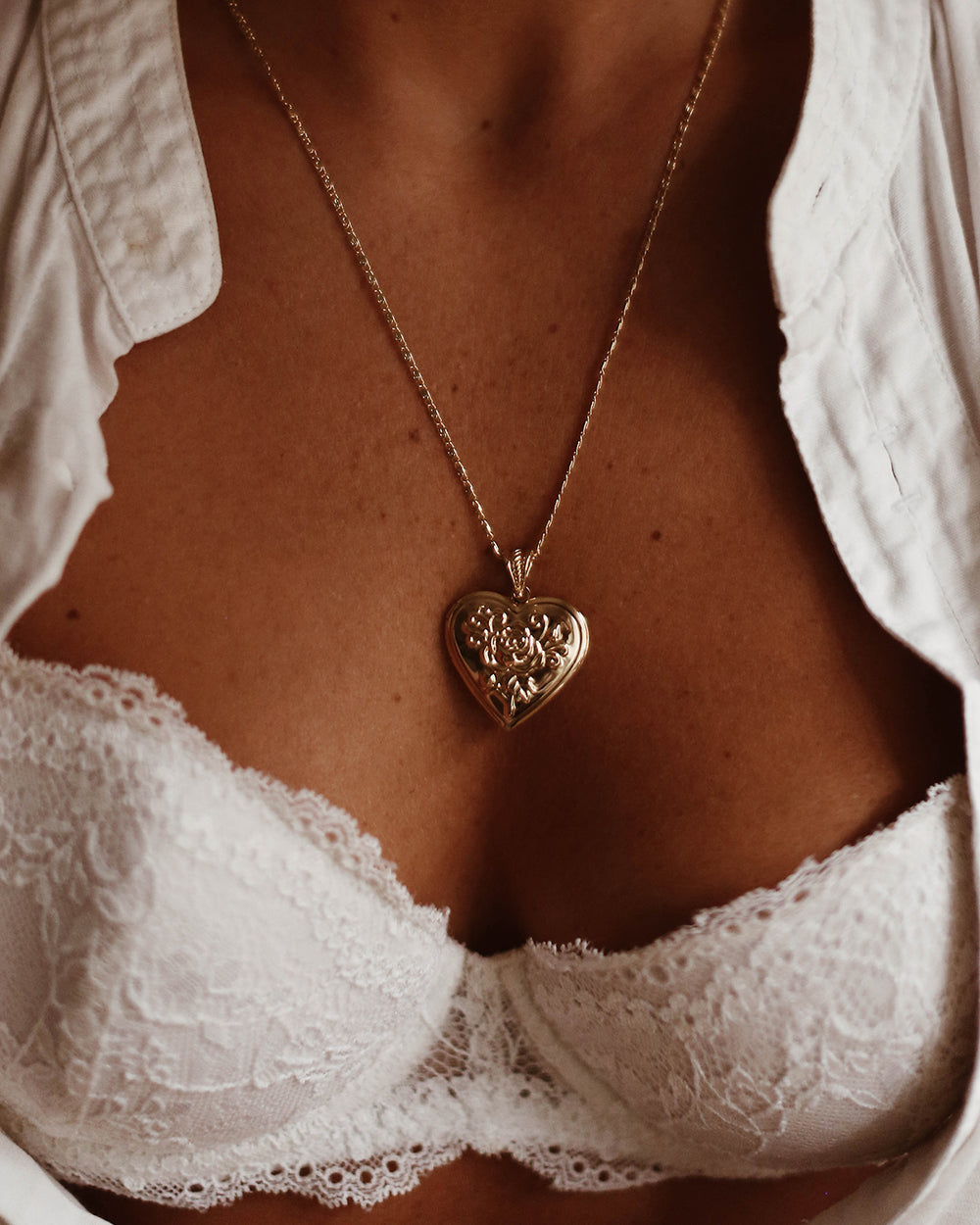 Valentina Heart Locket Necklace