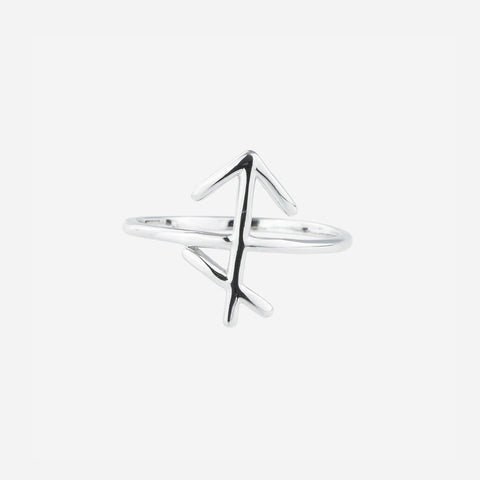 Bellatrix Sterling Silver Zodiac Ring - Sagittarius