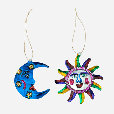 Set of Two Celestial Hanging Ornaments