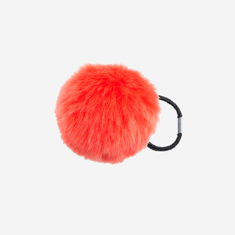 ZOOEY Orange Pom Pom Hair Tie