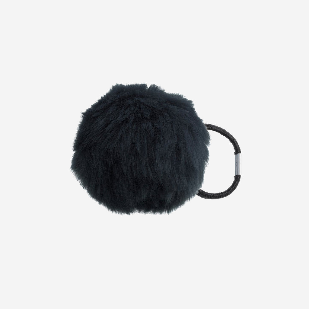 Image of ZOOEY Black Pom Pom Hair Tie
