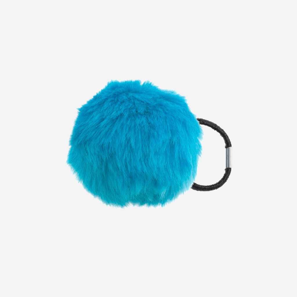 Image of ZOOEY Blue Pom Pom Hair Tie