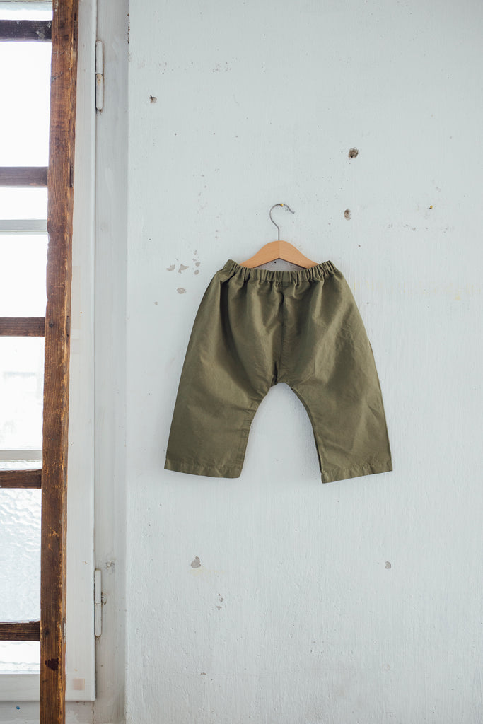 Kids Loose fit pants Dusky Green - somi-shop.ch
