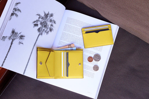 Bi-Fold Wallet & Slim Card Case NEW Mimosa Yellow color
