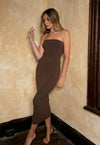 Strapless Dress Brown