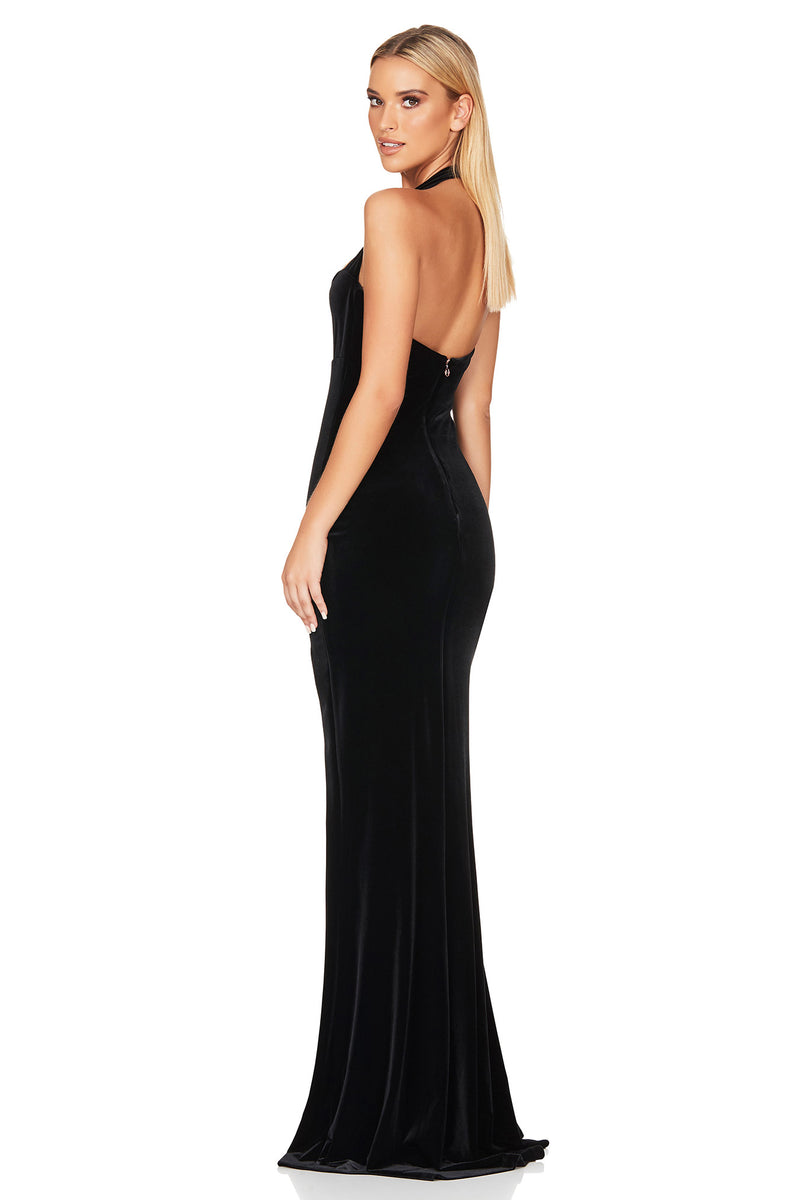 Vera Velvet Gown Black By Nookie