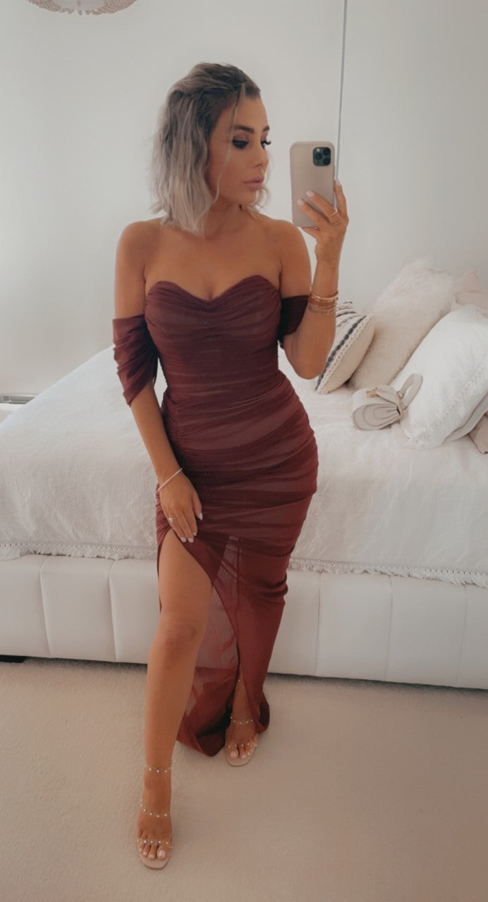 Dita Gown Chocolate