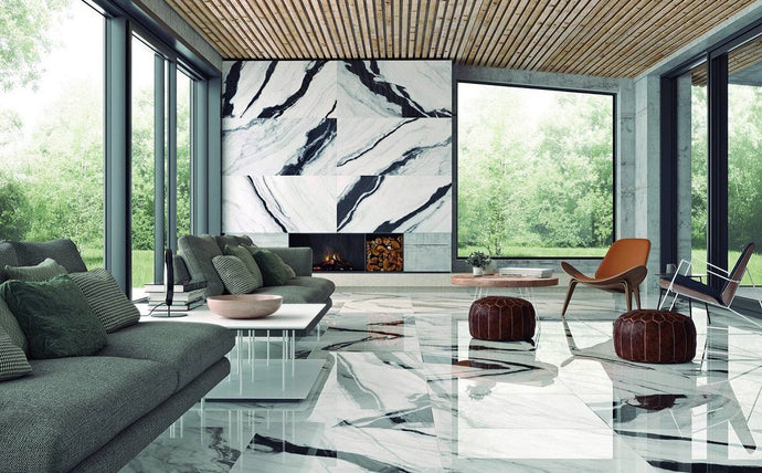 Omnia white marble effect