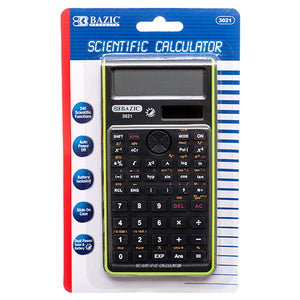 SCIENTIFIC CALCULATOR W/ SLIDE-ON CASE 240 FUNCTION ASST COLORS