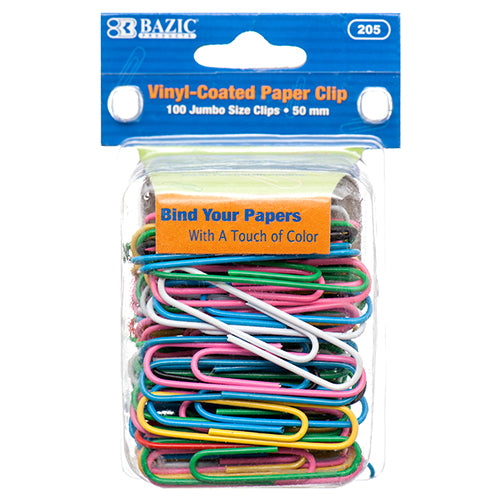 COLOR PAPER CLIP 50MM 100PC JUMBO SIZE