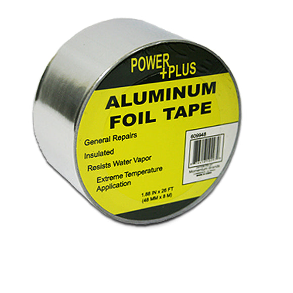 FOIL TAPE, ALUMINUM, 1.88inx26ft