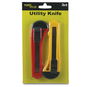 UTILITY KNIFE, ASSORTED COLORS, 2CT
