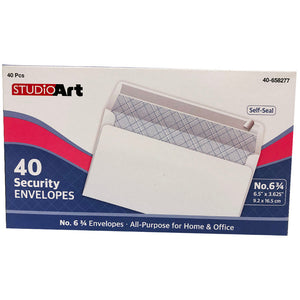 WHITE, SECURITY, NO. 6 3/4 SELF SEAL - 40CT