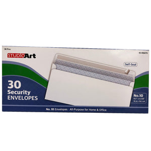 WHITE, SECURITY, NO.10 SELF SEAL - 30CT