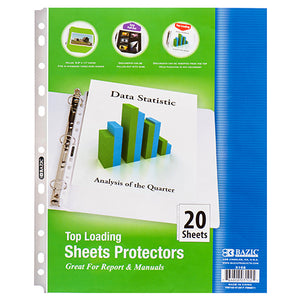 TOP LOADING SHEET PROTECTOR 20 SHEET