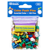 PUSH PIN 100 CT ASSORTED COLOR OR CLEAR
