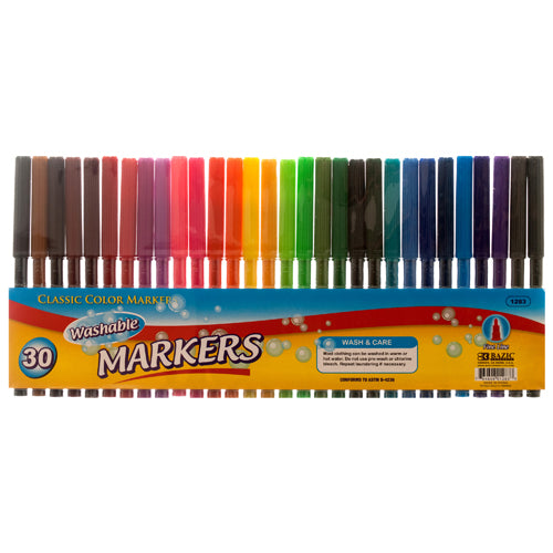 WASHABLE COLOR MARKERS 30CT