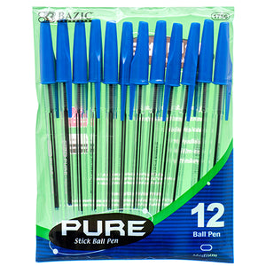 12 PC BLUE INK PENS