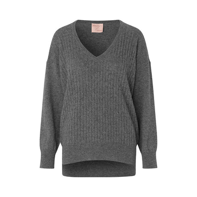 Schulz by Crowd betty knit strik trøje sweater kabel strik cashmere merino blend