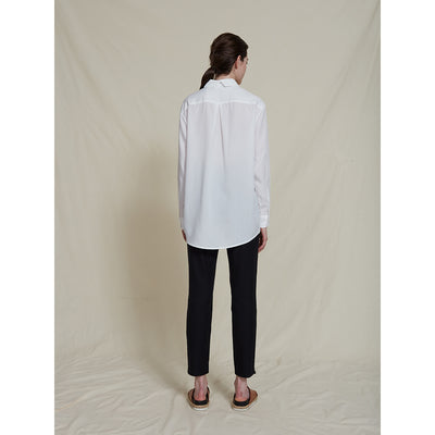 Schulz by Crowd Sanne oversize skjorte tencel hvis