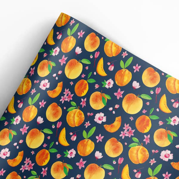 Peaches Gift Wrap Roll