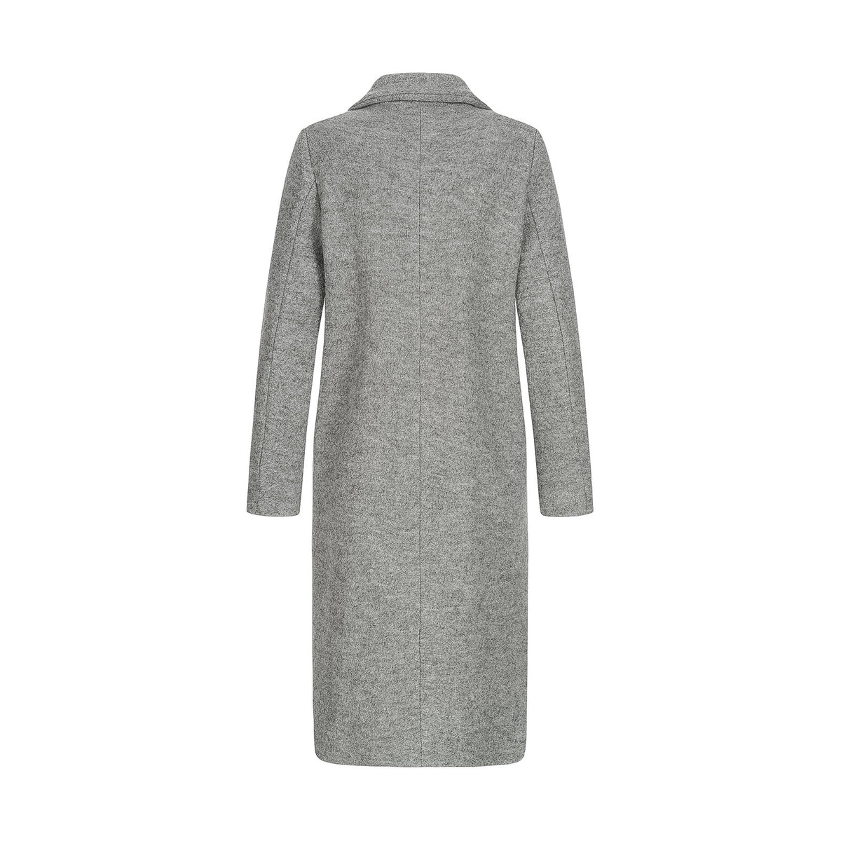 Authentic Boiled Wool Coat With Shearling