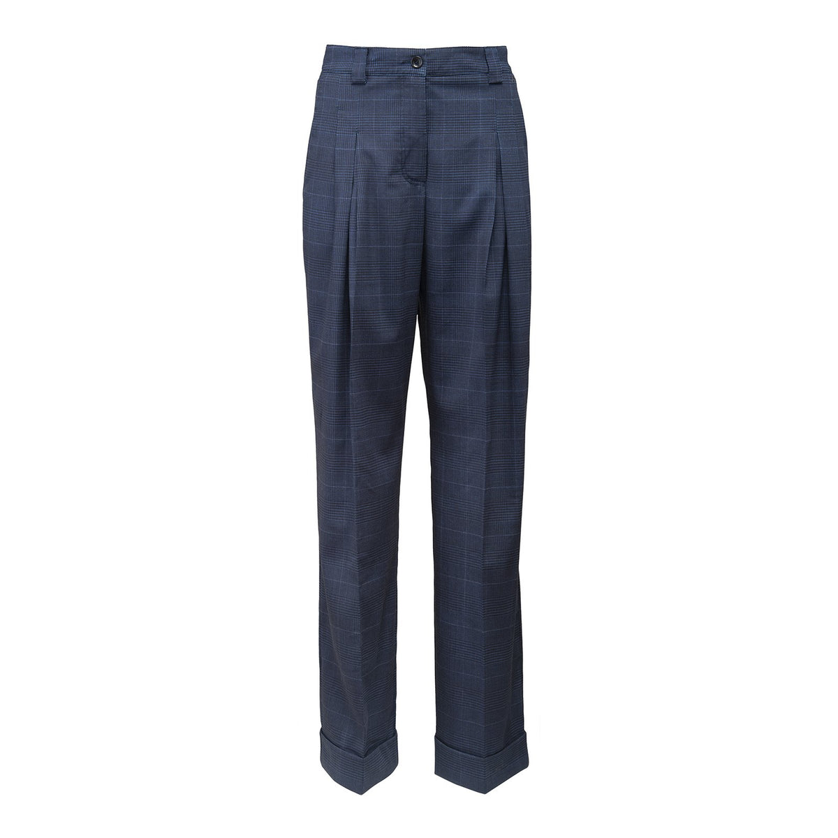 Fresco Check Pleated Trousers