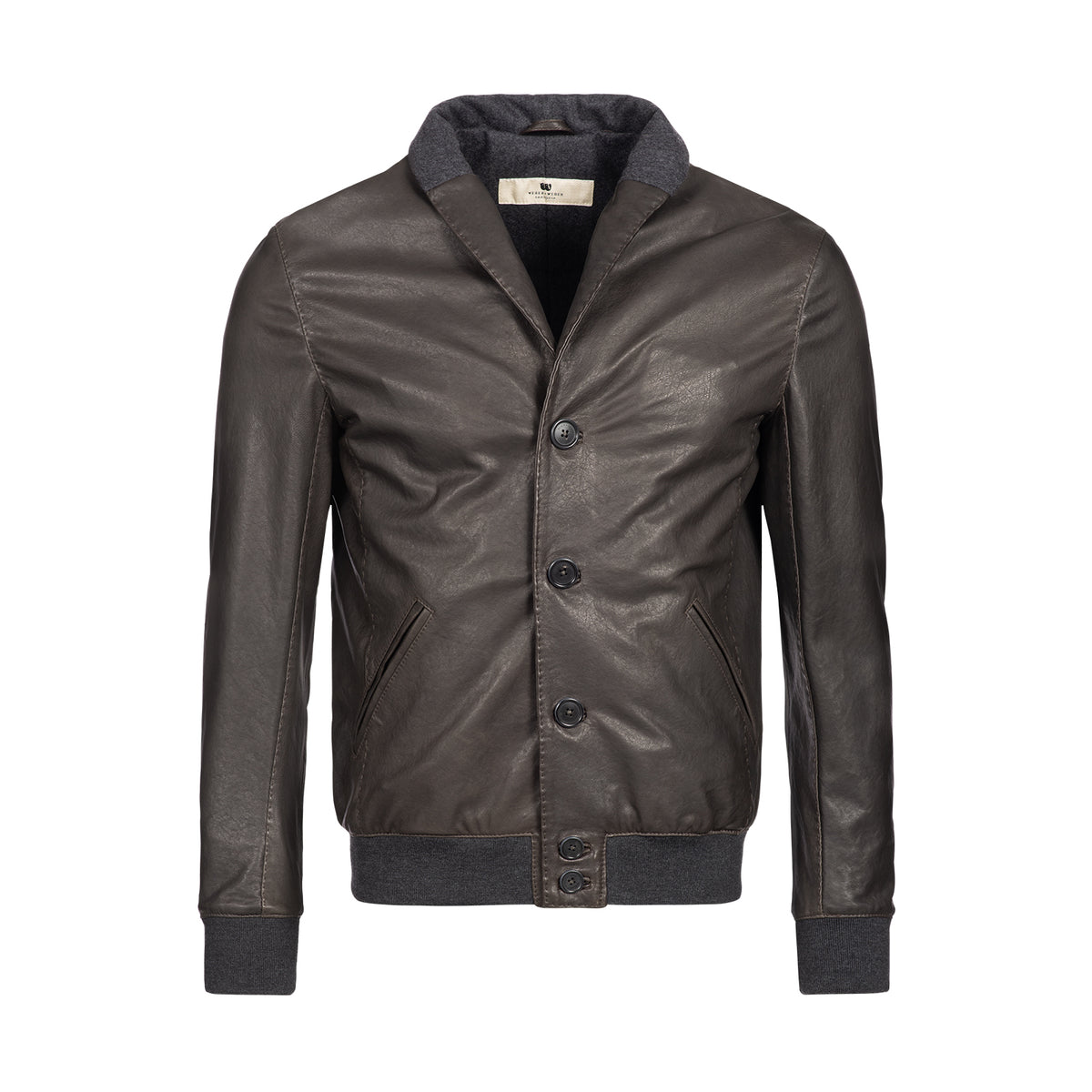 Shawl Leather Bomber