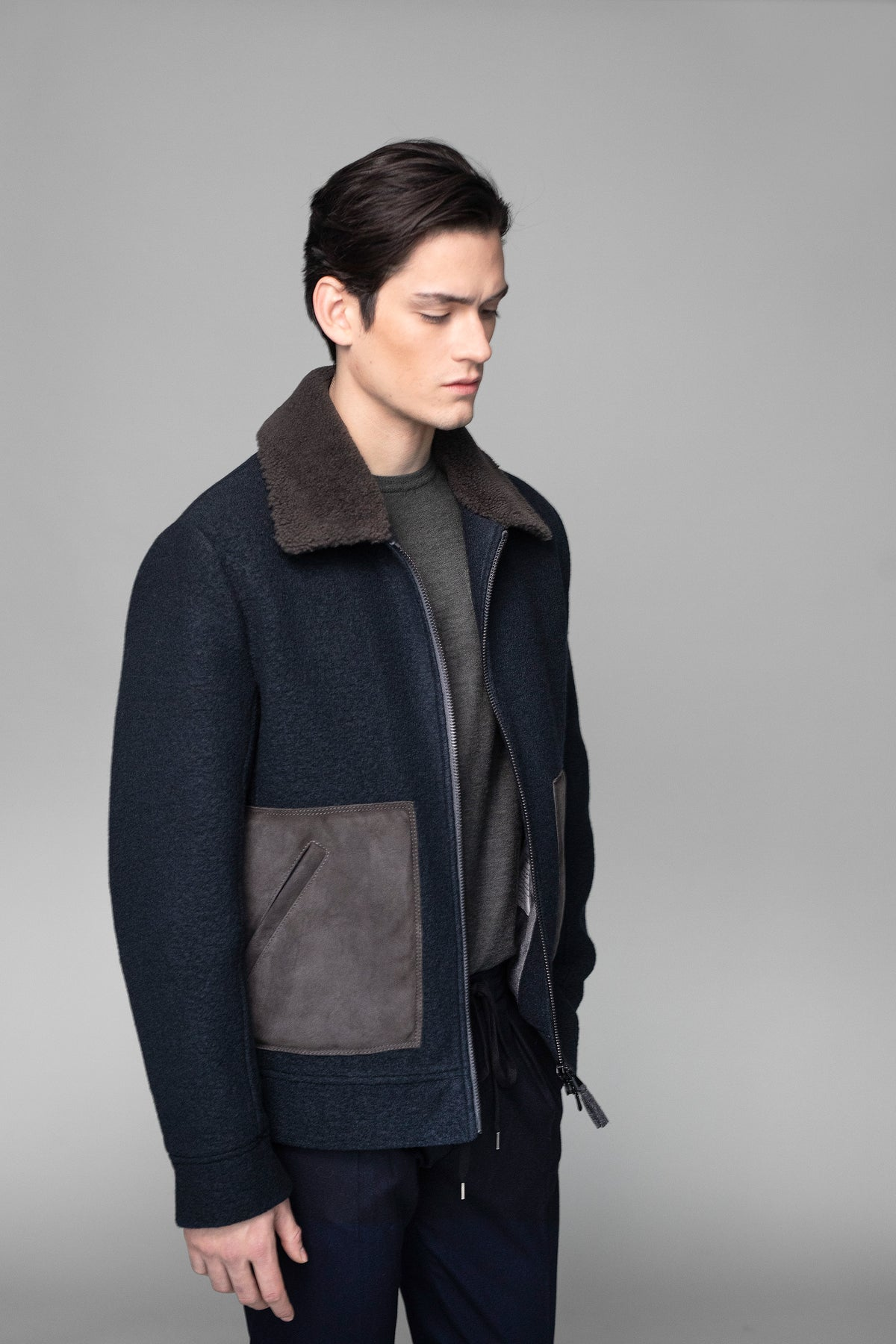 Travel Shearling Bomber