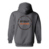 "Image of Stout Gloves Hoodie "" For Those Who Work Where Others Wont"" - CHARCOAL GREY"