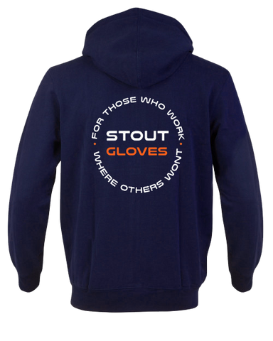 "Stout Gloves Hoodie "" For Those Who Work Where Others Wont"" - NAVY BLUE"
