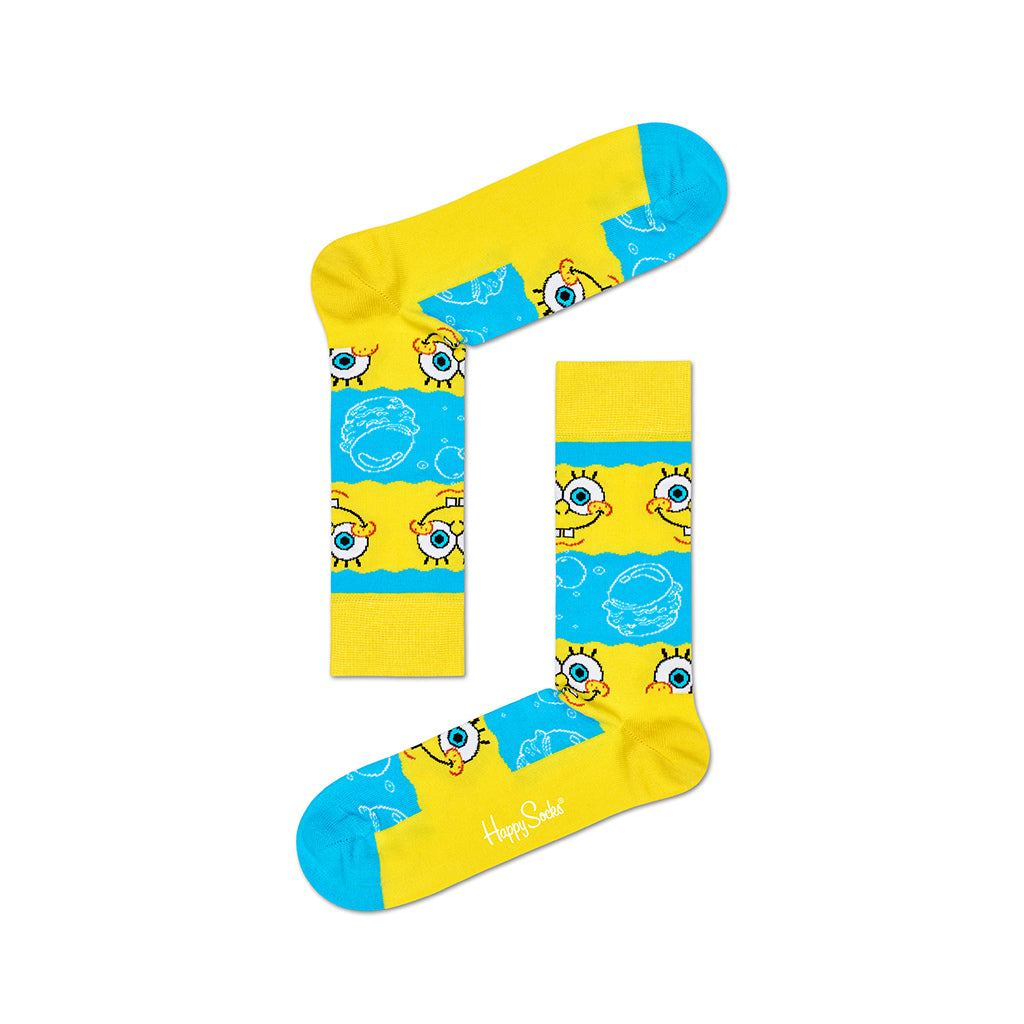 Nilkkasukat - SpongeBob Say Cheese Burger Socks - Happy Socks - Bonmarks.fi
