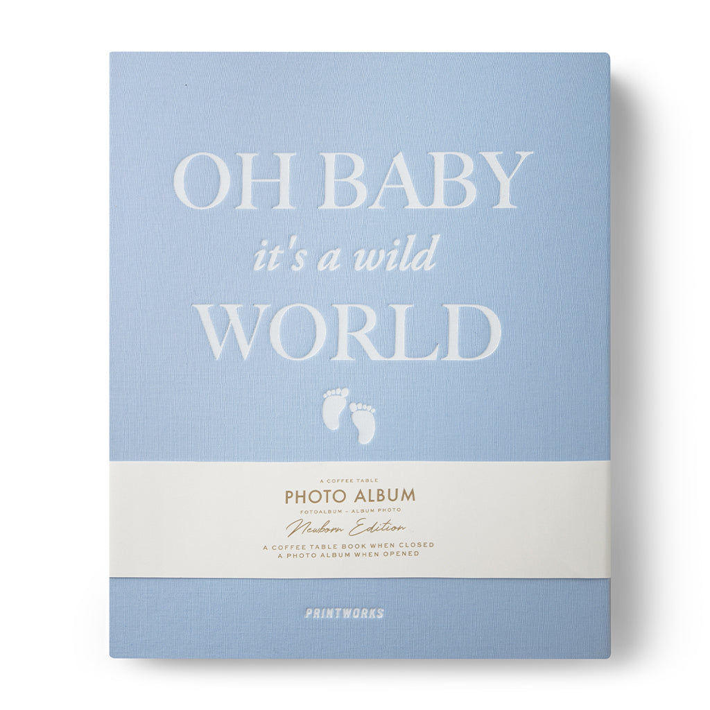 Valokuva-albumi - Baby Its a Wild World-Sininen