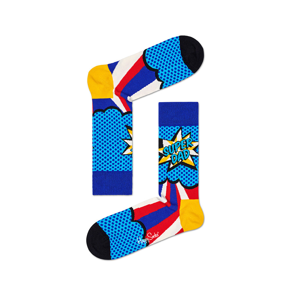 Nilkkasukat - Super Dad Socks - Happy Socks - Bonmarks.fi