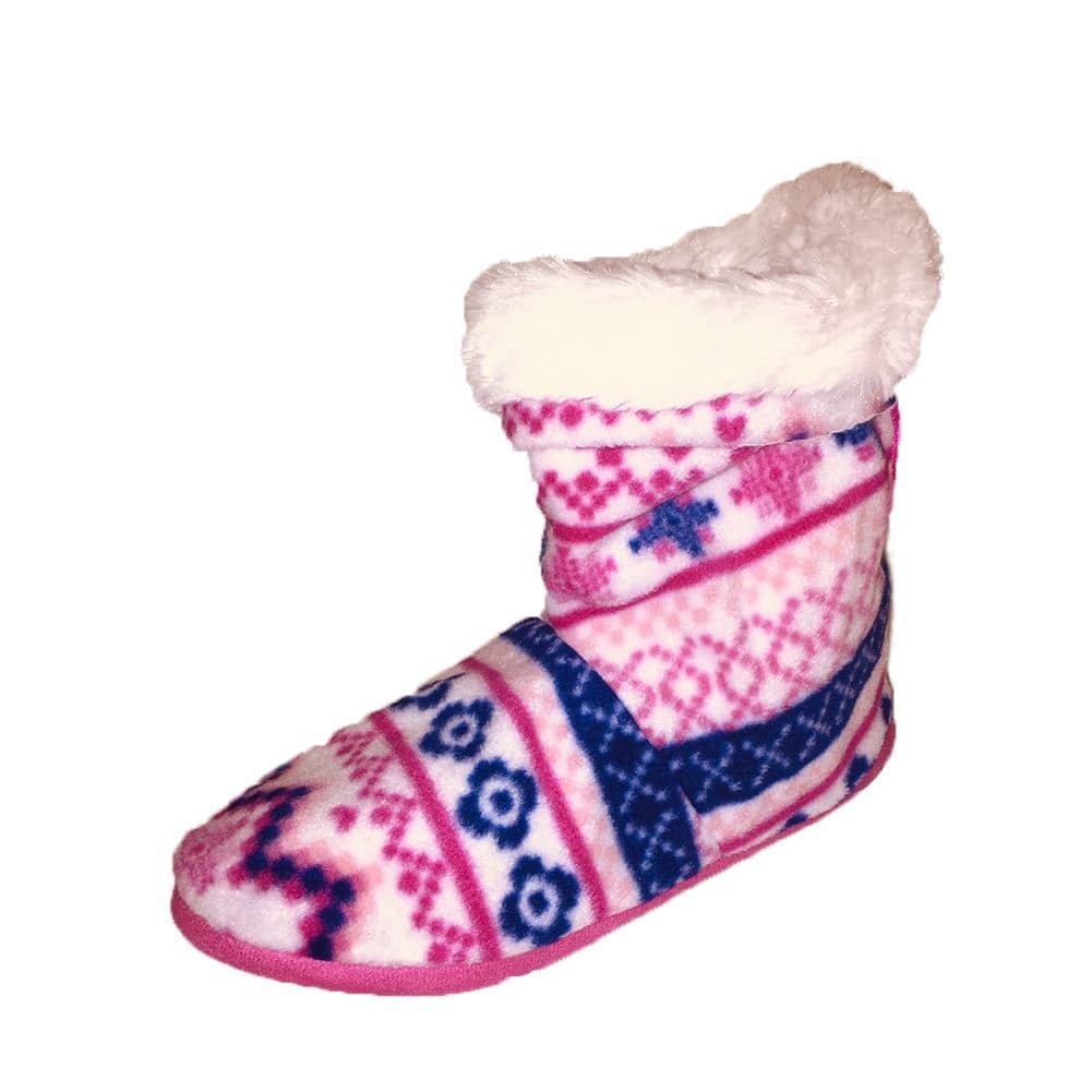 Soft furry lined slipper boots - soft feel