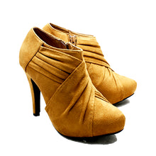 Load image into Gallery viewer, Faux suede high heel ankle boots / shoe boots