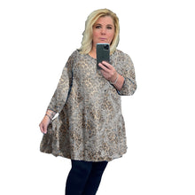 Load image into Gallery viewer, Long Sleeve Animal Print Swing top - Plus Sizes Too