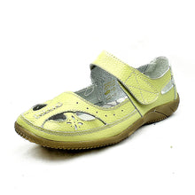 Load image into Gallery viewer, Green pistachio adjustable fastening comfort flat shoes