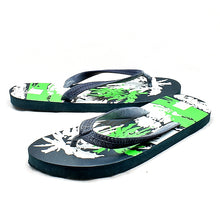 Load image into Gallery viewer, Blue / Green Palm Tree flip Flops Mens
