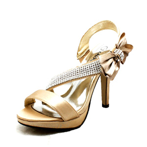 Side bow Open Toe high heel sandals / shoes