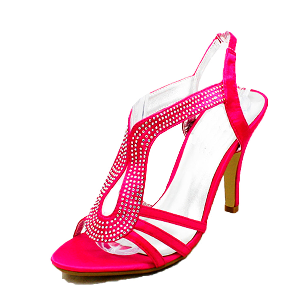 Pink Fuchsia Satin high heel party / bridesmaid shoes