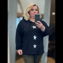 Load image into Gallery viewer, Hoody / jumper with 3 parkly glitter hearts