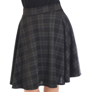 Tartan A line swing skirt - Plus Sizes too