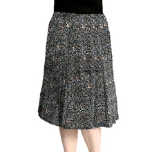 Load image into Gallery viewer, Calf Length Patterned elastic Waist Skirt- Plus Sizes too