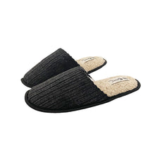 Load image into Gallery viewer, Cord open back fleece inner mule slippers MENS